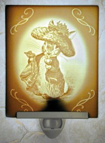 Benjamin Bunny Belle Rose Farm Classic Lithophane Collection