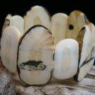 Vintage Alaska Eskimo Inuit Walrus Ivory Bracelet - Scrimshaw - Hand Carved - Pre Ban