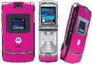 Motorola V3 Pink Mobile Phone Unlocked