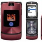 "Motorola V3I Razr ""Maroon'' Mobile Cellular Phone with i-Tunes (Unlocked)"